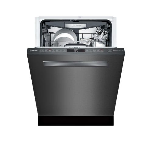 Bosch SHPM78W5 24 Inch Wide 16 Place Setting Energy Star Built-In Fully Integrated Dishwasher with Recessed Handle and Eco Cycle (