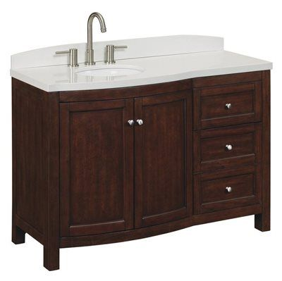 allen + roth Moravia Sable Undermount Bathroom Vanity with Engineered Stone Top 48-in x 20-in  48-in Moravia Vanity - SableSable finish with engineered