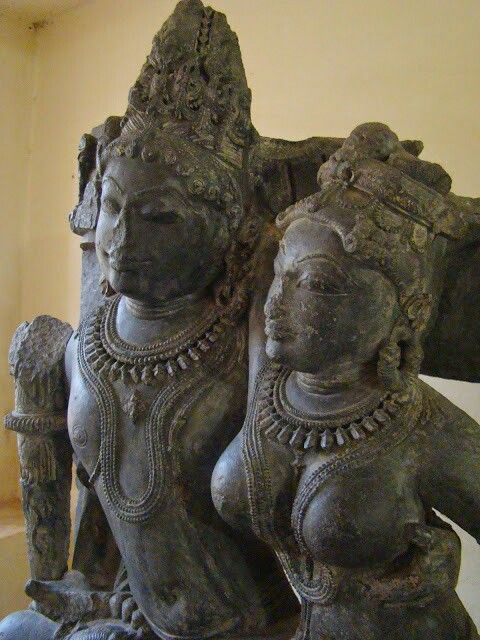 """Lord Vishnu and Goddess Lakshmi. "" Pratihara Dynasty 10th Century AD. Ajmer Museum. Rajasthan.  India."