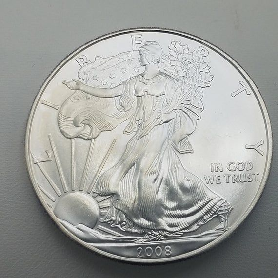 Silver Coin 1 Oz Silver Coin 2008 Silver Coin 2008 Silver Eagle Silver Investment Silver American Eagle 2008 Ea American Silver Eagle Silver Bullion Eagle Coin
