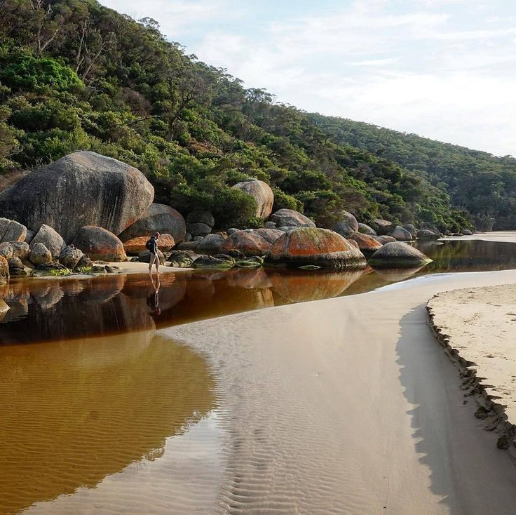 Take me to the (Tidal) River! Make your way to the Tidal River Camp Ground, the main location for accommodation and camping in Wilsons Promontory National Park and one of Victoria's favourite holiday destinations. Pitch a tent and listen to the gentle waves of Norman Beach. You'll be inspired in @visitgippsland. Captured by @los_travel #wandervictoria #visitgippsland #visitvictoria #visitmelbourne
