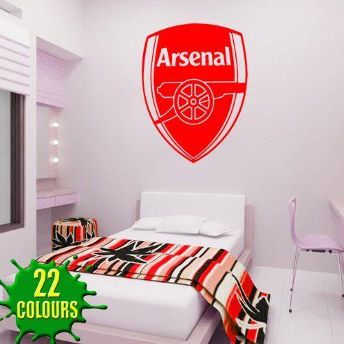 Arsenal Badge - Wall Decal Art Stickers football sport bedroom nursery playroom (Medium)