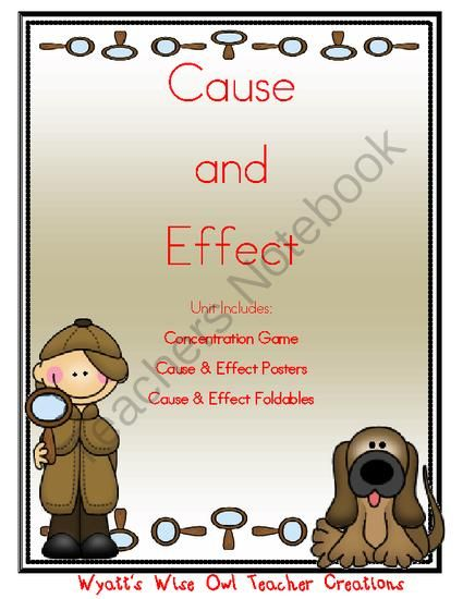 Cause and Effect Giveaway - 3 Lucky Winners.  A GIVEAWAY promotion for Cause and Effect Game with Graphic Organizers & Word Wall Posters from Mrs. Wyatt's Wise Owl Teacher Creations on TeachersNotebook.com (ends on 12-14-2013)