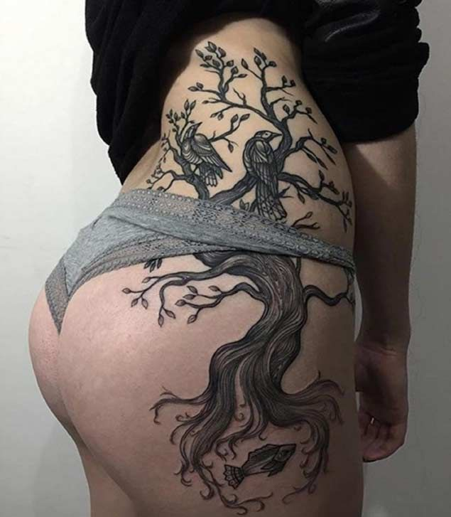 Top 25 Best Hip Tattoos Ideas On Pinterest: Best 25+ Tree Thigh Tattoo Ideas On Pinterest