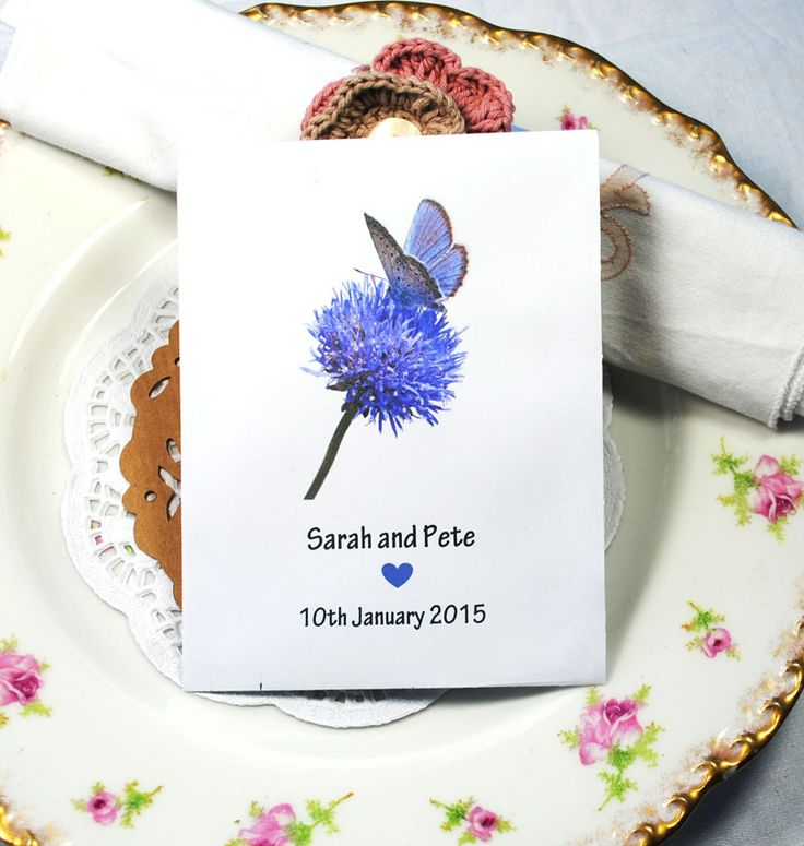 Our favourite butterfly - the Blue!  Very pretty seed packets.  £1.50.  Contain British-grown British wildflower seeds.