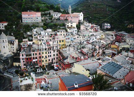Village Of Vernazza, Cinque Terre, Italy Foto Stock: 93568720 : Shutterstock