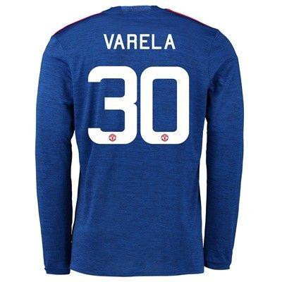 Manchester United 16-17 Guillermo Varela 30 Udebane Trøje Kortærmet.  http://www.fodboldsports.com/manchester-united-16-17-guillermo-varela-30-udebane-troje-kortermet.  #fodboldtrøjer