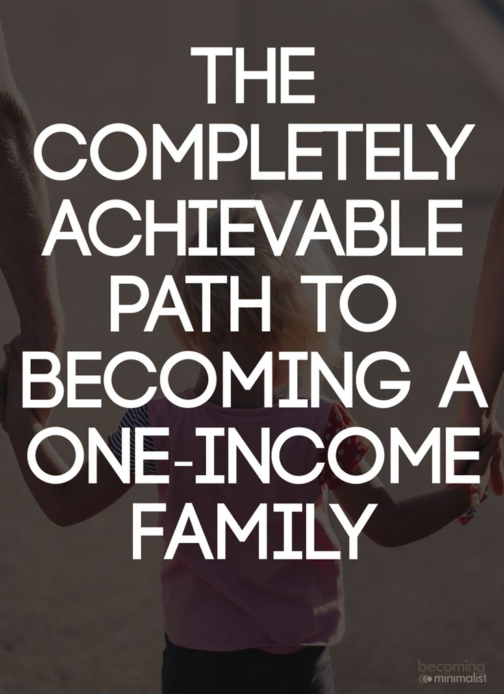 I have known a number of dual-income families over the years who desire to become one-income - typically experienced in conjunction with the birth of a child. This post is written with them in mind.