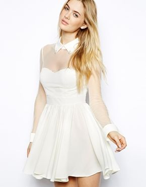 Arrogant Cat London Skater Dress with Sheer Top