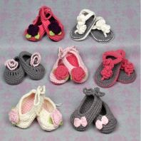 Stylish knitted shoes for baby girls