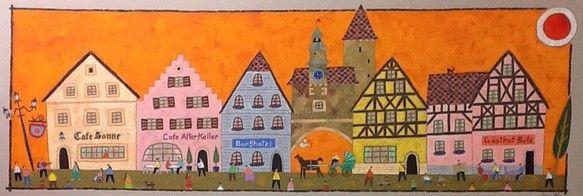 ドイツ、ロマンチック街道の町ローテンブルグには何度も足を運びました。城壁に囲まれた中世の美しい町並みは、どこを切り取っても絵になります。カフェでくつろぐ人びと...|ハンドメイド、手作り、手仕事品の通販・販売・購入ならCreema。