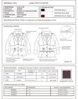 Brenka Diseño+Moda: Geometrales planos y ficha técnica