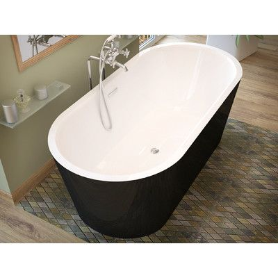 "Spa Escapes Little Key 63"" x 31.37"" Freestanding One Piece Soaking Bathtub with Center Drain & Reviews 