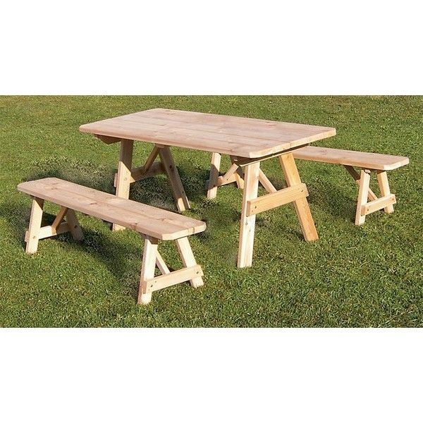 Amish Cedar Wood Traditional Outdoor Dining Set ($344) ❤ liked on Polyvore featuring home, outdoors, patio furniture, outdoor patio sets, outdoor furniture, cedar outdoor furniture, outdoor patio furniture, green patio furniture and outside patio furniture