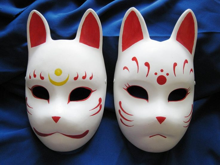 Fox masks 2 by ~Mishutka on deviantART