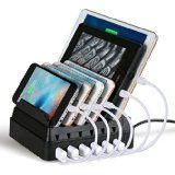 Station de Charge,Upow Chargeur 8-Port USB[68W / 2.4A Max] avec Organisateur de Fil Chargement Direct Intelligent et Rapide pour les Portables et les Tablettes: Amazon.fr: High-tech