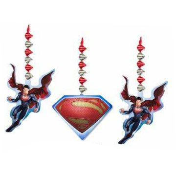 Superman Dangling Decor (includes 3 pcs of danglers, with cutouts at the bottom, in a pack)