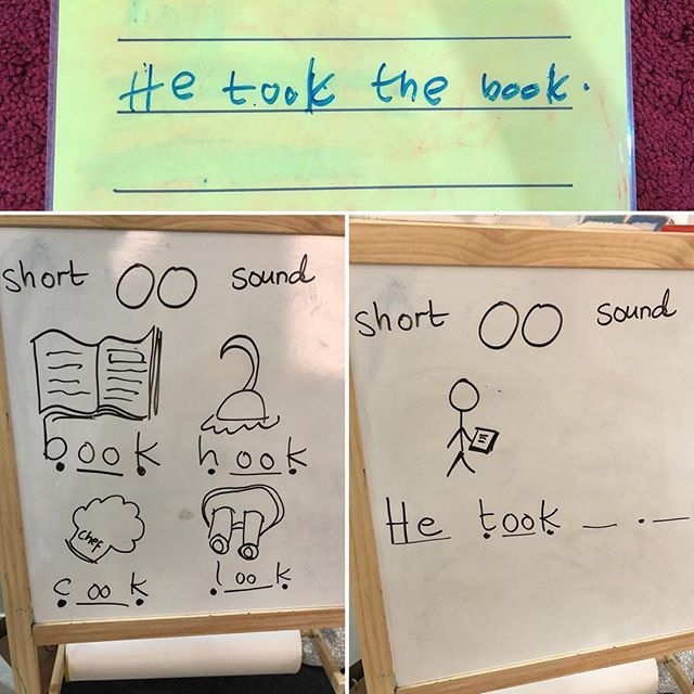 Phonics Phase 3 sounds - short /oo/ sound. We worked through words with the sound of the week and wrote a sentence :) more phonics fun tomorrow on our stories #tuesdayteachingtips ;) . . . #homeed #homeeducator #teaching #teaching #phonics #phase3phonics #homeeducation #homeschooling #writing #lifeofa4yearold #eyfs #learningathome #earlywriting #sentencewriting #mamateachesme #mamateacherlife