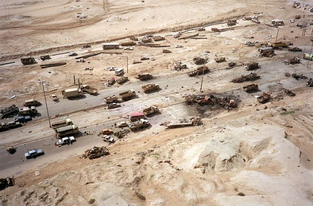 The Infamous Vehicle Graveyard of Iraq�s Highway of Death