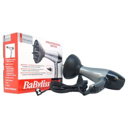 Babyliss PRO TT Tourmaline and Ceramic Professional Hair Dryer - Model # BTM5559 by BaBylissPRO for Unisex, 1 Pc