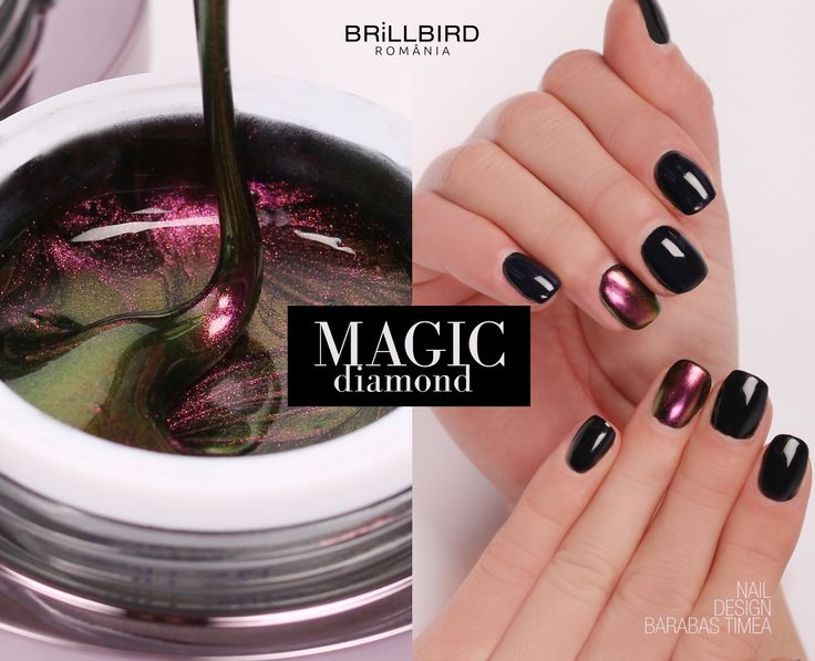 Unghii false din gel Color Magic Diamond de la BrillBird.