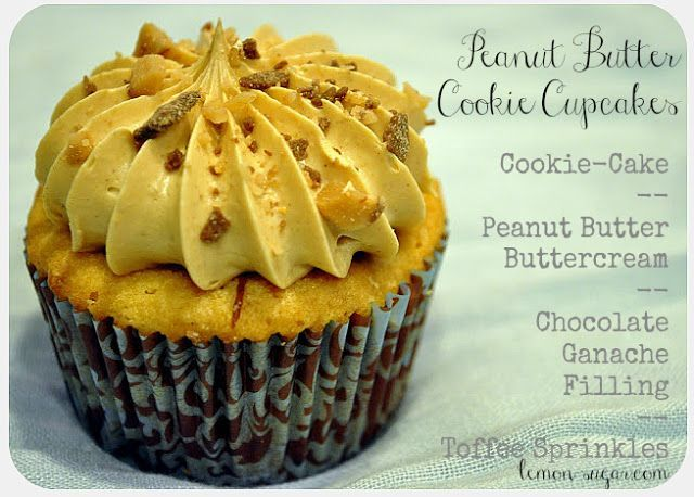 Peanut Butter Cookie Cupcakes | | Biatch Bakes | Pinterest