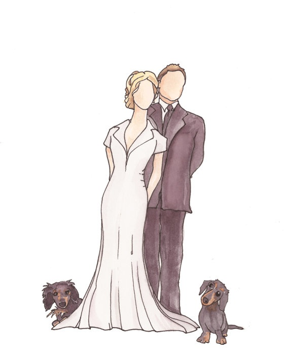 Personalised Wedding Gift Portrait : Personalized Portrait // wedding gift gifts Pinterest