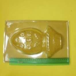 Categoría: Moldes Plasticos - Producto: Molde Huevo Pascua Canasta y Huevo  -Simple-23x35 - Envase: Unidad - Presentación: X Unid.