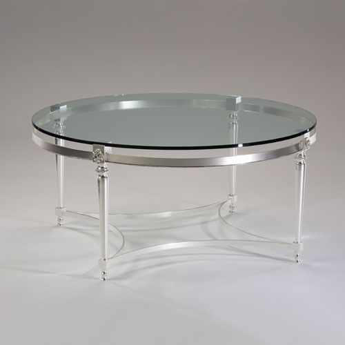 49 Coffee Table Nickel Finish Solid Iron Casters