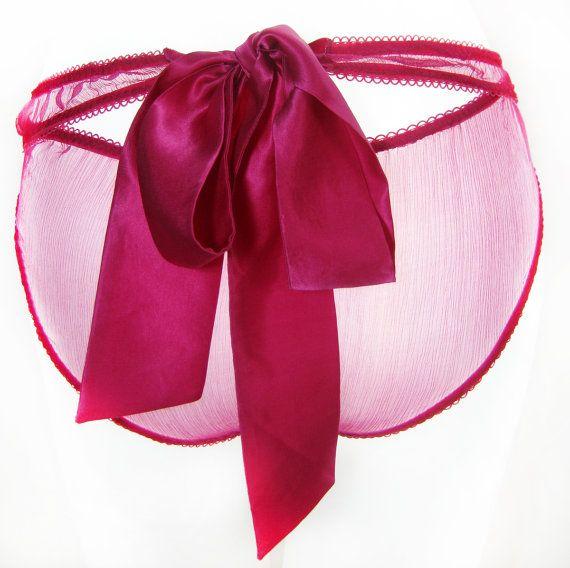 Britt bow tie Knicker Panties by La Lilouche