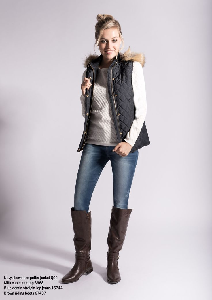 Sleeveless puffer with faux fur hood