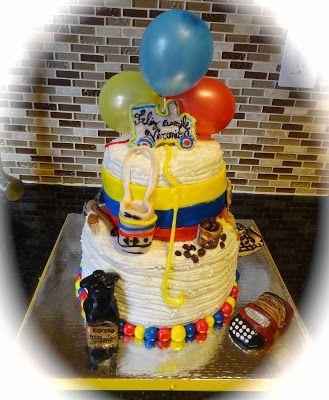 Torta de fiesta temática colombiana. #FiestaTematicaColombiana