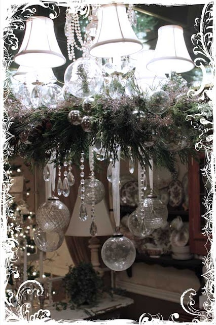 Christmas Decorations At Haskins : Ideas about christmas chandelier decor on