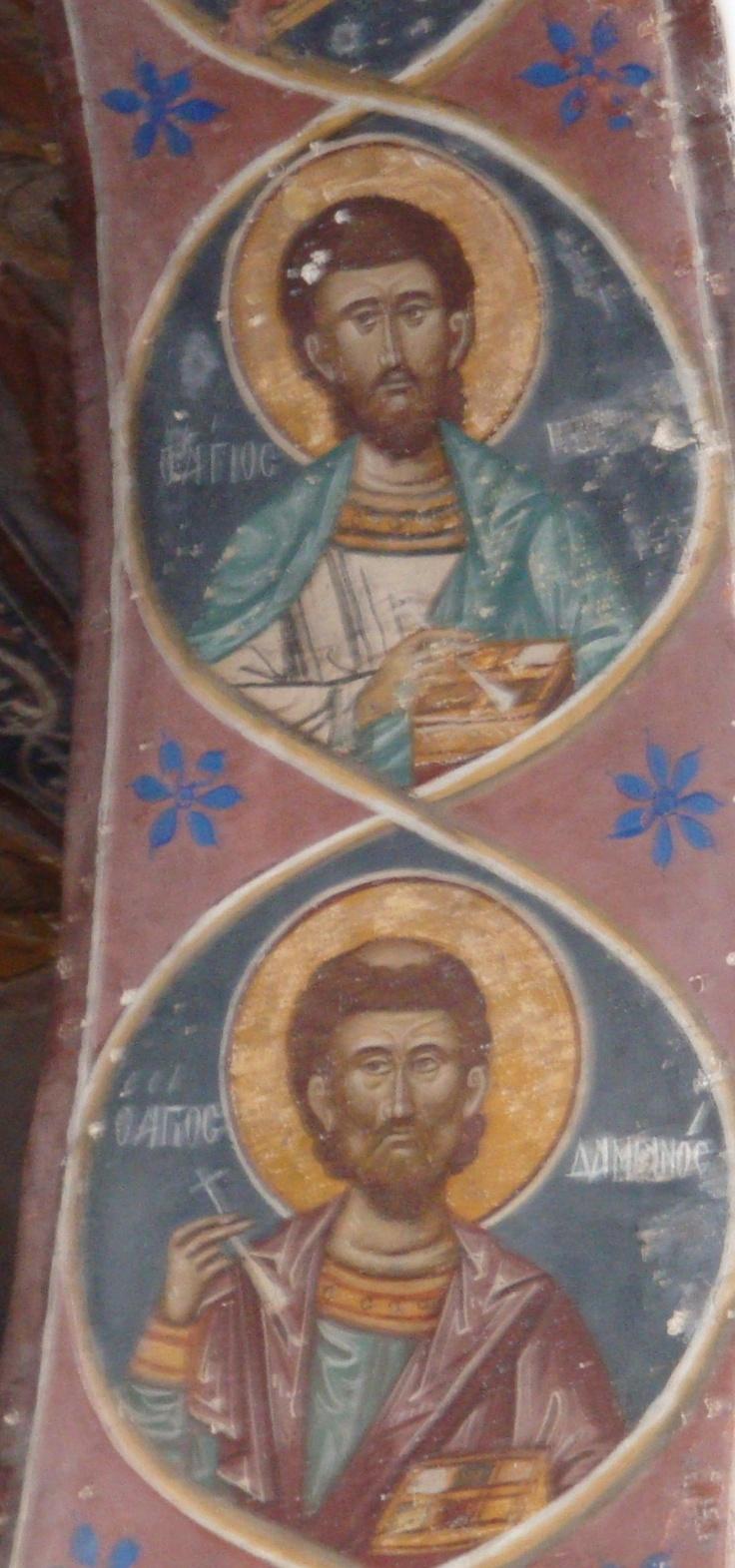 Paintings on Patmos Greece taken by Kelli Bruns