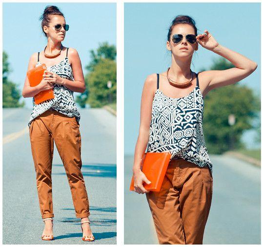 Tribal: Summer Street Style, Fashion Streetstyl, Summer Looks, Diy Clothingdesign, Orange Pants, Tribal Tops, Fashion Inspiration, Fashion Divas, Asos Fashion