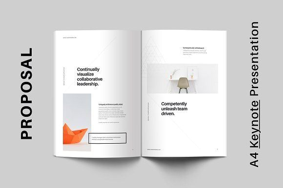 A4 Vertical Keynote for Print by GoaShape on @creativemarket