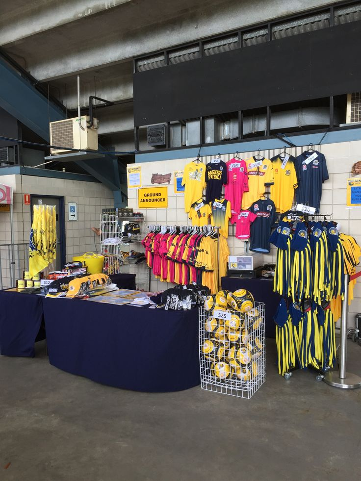 Merchandise stand on the Western Concourse at Central Coast Stadium