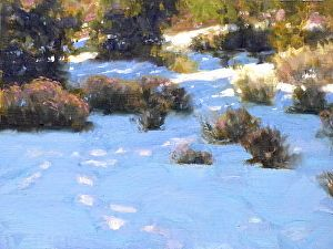 Footprints by artist Robert Goldman. #landscapepainting found on the FASO Daily Art Show - http://dailyartshow.faso.com