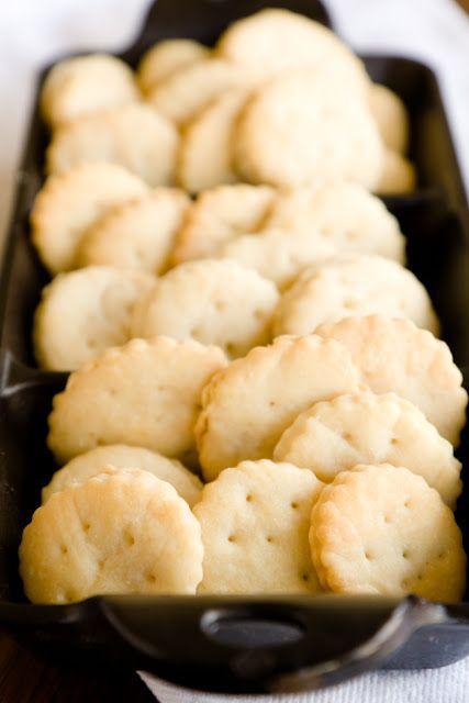 Homemade Ritz Crackers Recipe 2 cups all-purpose flour 3 tsp baking powder 1 tbsp sugar 1/2 tsp + another 1/2 tsp salt for topping 6 tbsp cold unsalted butter + 3 tbsp unsalted butter, melted 2 tbsp vegetable oil 2/3 cup water