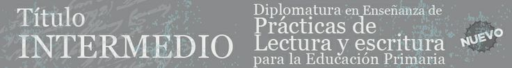 """""""Diplomatura en Enseñanza de Prácticas de Lectura y Escritura para la Educación Primaria"""""""