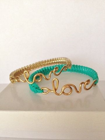 Love Bracelet by ByJGolden on Etsy, $7.75.. THESE ARE SUPER CUTE .. WILL LOVE ONE FOR EACH OF MY SISTAHS