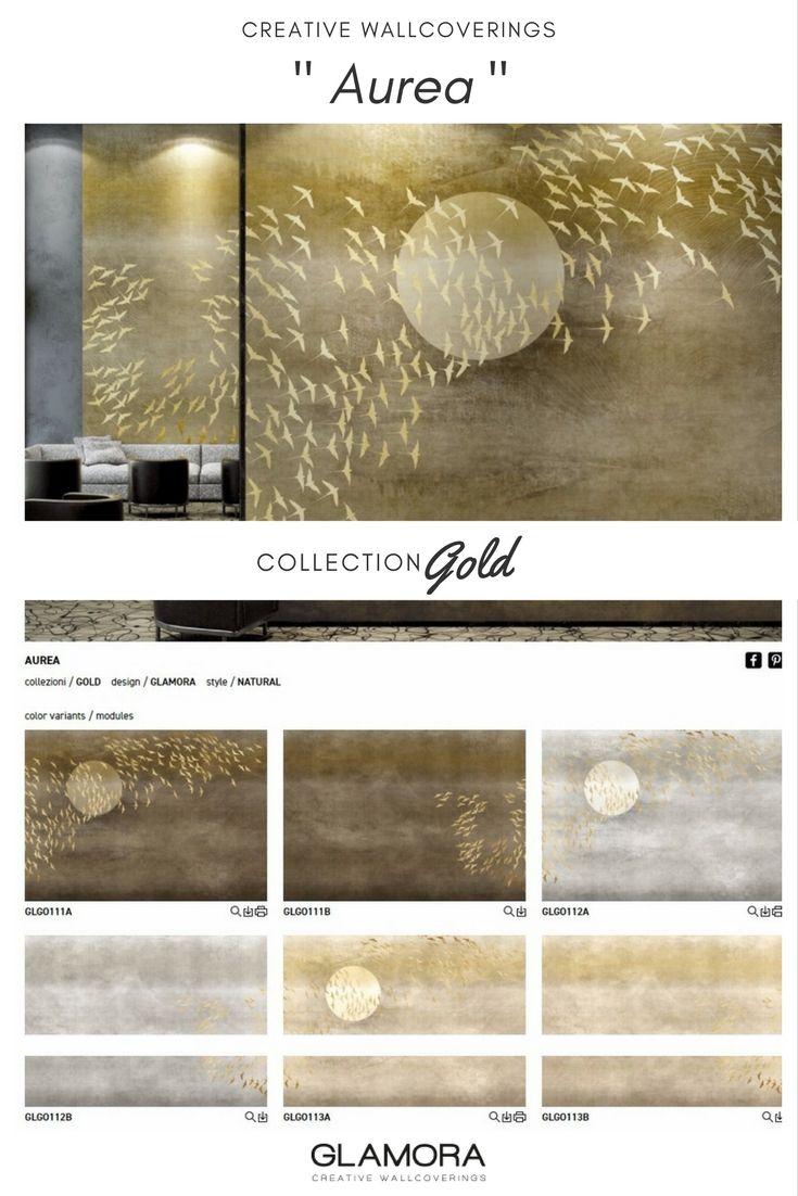 Aurea | Natural Wallcovering & Carta da Parati | Gold Collection by Glamora
