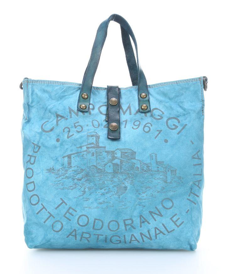 wardow.com - #Campomaggi Biancospino Donna Handtasche türkis 33 cm #bag #pantone #ColoroftheYear #RoseQuartz & #Serenity