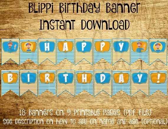 Blippi Birthday Banner Blippi Birthday Blippi Birthday