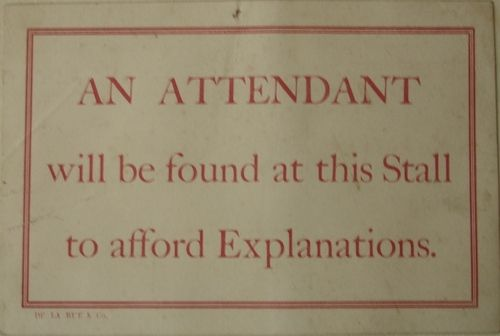 ~ sign from The Great Exhibition of 1851 (The Crystal Palace Exhibition)