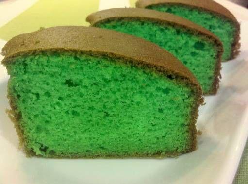 Pandan cake is een lekkernij gemaakt van groene cake.