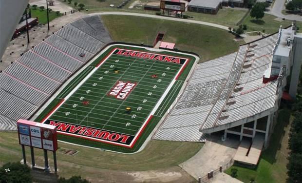 University of Louisiana at Lafayette Ragin' Cajuns football - aerial of empty Cajun Field
