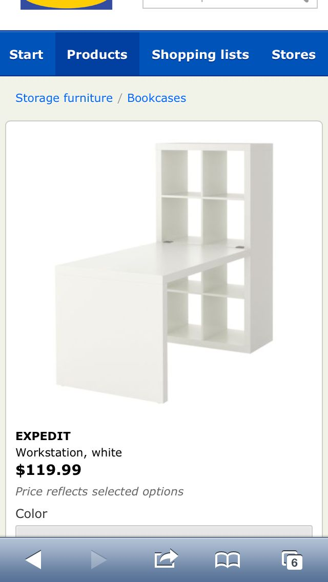 Ikea desk with storage