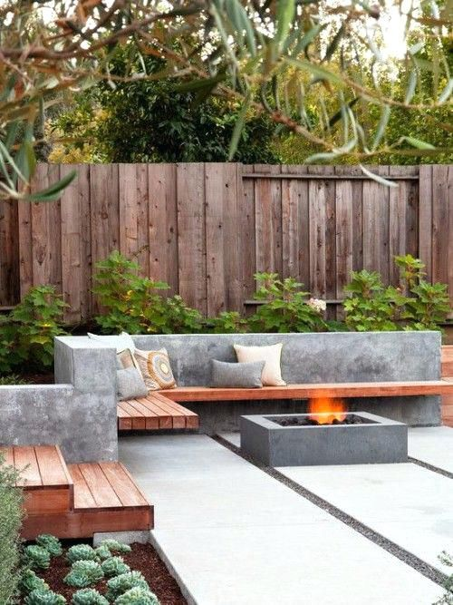16 Modern Patios With Fire Pits A Large Paverscement Paverspavers Patio Concrete Large Concrete Pavers Home Depot Concrete Pavers For Sale Brisbane Concrete Pavers For Driveways Cost