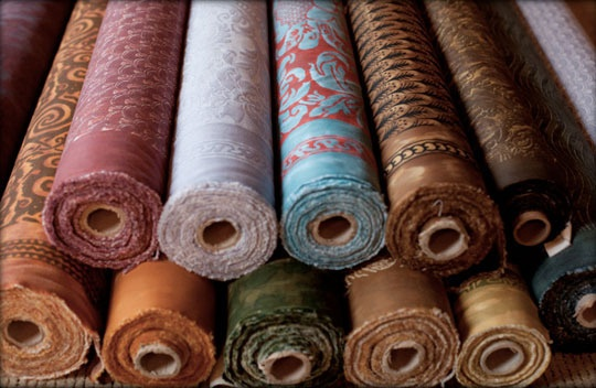 Absolutely divine - bolts of Fortuny fabric, reproduced using Mariano Fortuny's original patterns, colors, and techniques.